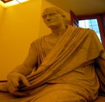 Statuaire Personnage Togato Seduto Rome Palazzo Altemps