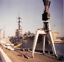 Amphibious assault ship USS Guam LPH-9  Marseille
