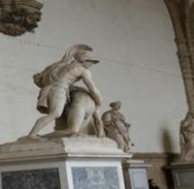Statuaire Rome Patroclo e Menelao Florence Loggia Lanzi