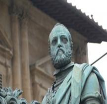 Florence Piazza della Signoria Statua equestre di Cosimo I de' Medici