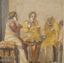 Mosaïque Rome Italie Pompéi  Visite à la Magicienne  Villa Cicéron Naples MAN