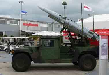 Missile Sol Air SLAMRAAM /Hummer