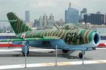 MiG 15 USS Intrepid