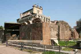Rome Rione Campitelli Forum Romain Temple Divin Jules César