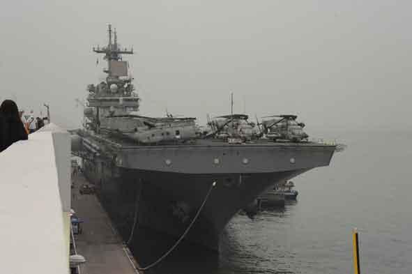 Amphibious assault ship USS Boxer