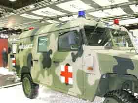 URO Vamtac Ambulance Eurosatory 2010