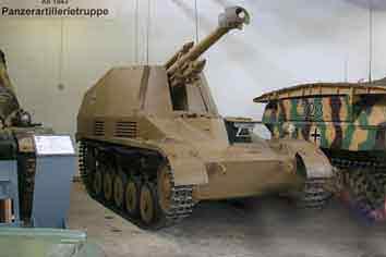 Automoteur Wespe SdKfz 124 Munster