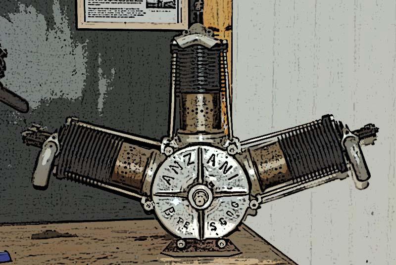 moteur anzani 3 cylindres 1903 londres le monde de la maquette. Black Bedroom Furniture Sets. Home Design Ideas