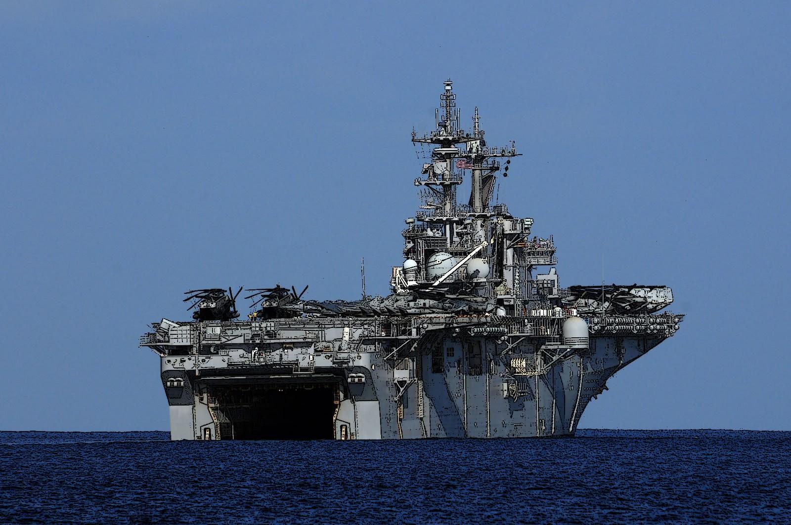 amphibious assault ship uss boxer  maquetland com   le