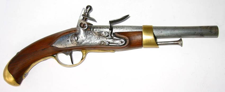 1786 pistolet marine manufacture detulle salon maquetland for Pistolet de salon